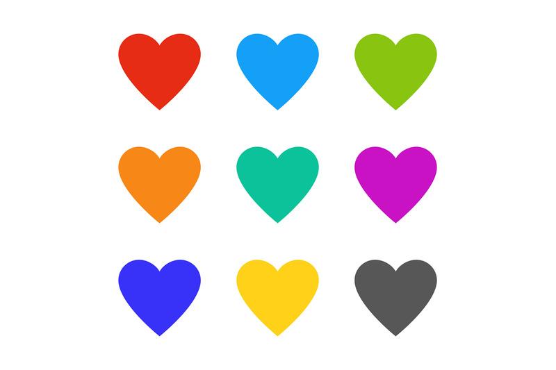 heart-love-multicolor-wedding-symbols-hearts-card-romance-elements