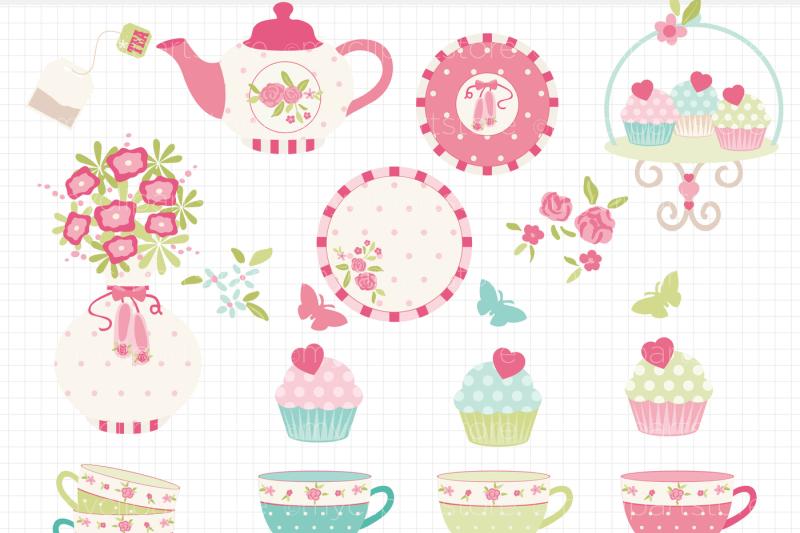 tea-garden-2-shabby-chic-roses-vector-clipart