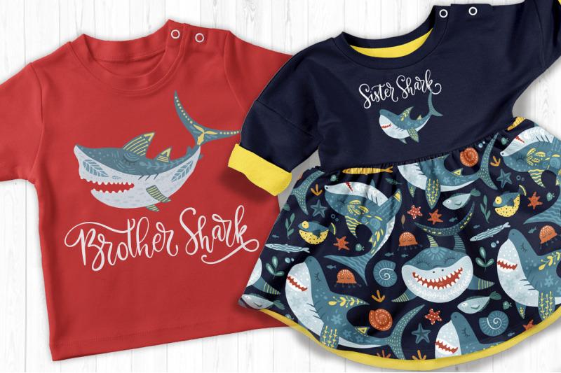 shark-family-do-do-do-graphic-set