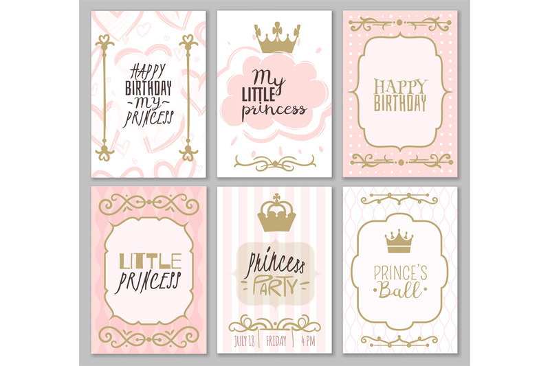 princess-borders-cute-girl-party-invitation-shower-or-sweet-frames-fo