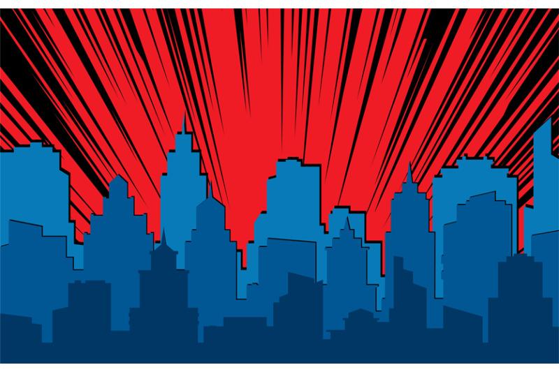 comic-cityscape-retro-urban-silhouette-of-city-buildings-for-art-book