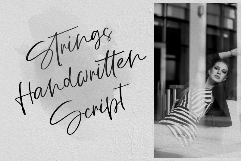 strings-handwritten-script-font