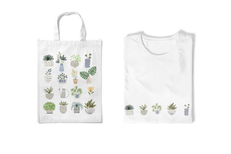 watercolor-houseplant-clipart-set