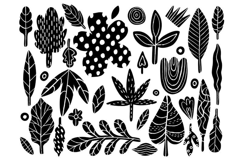 plant-naive-hand-drawn-set