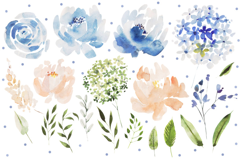 watercolor-blue-flowers