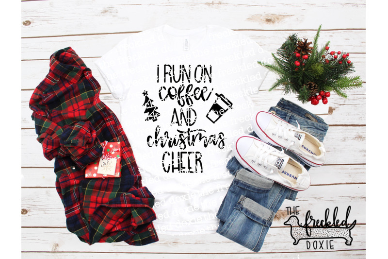 i-run-on-coffee-and-christmas-cheer-svg-hand-lettered