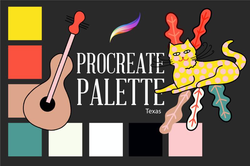 procreate-palette-texas