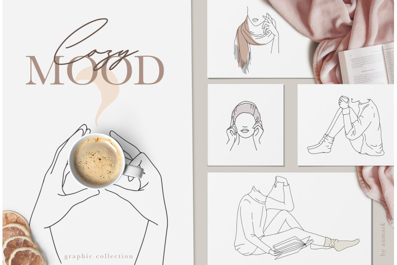 cozy-mood-line-art-collection