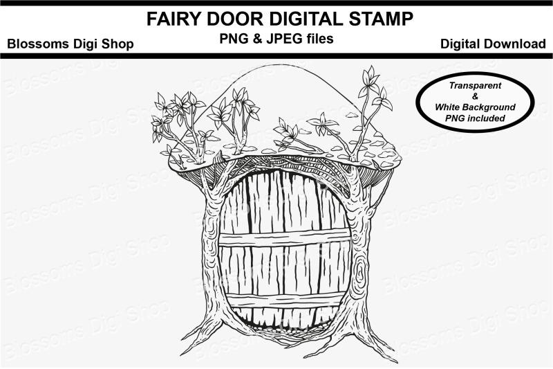 fairy-door-digital-stamp