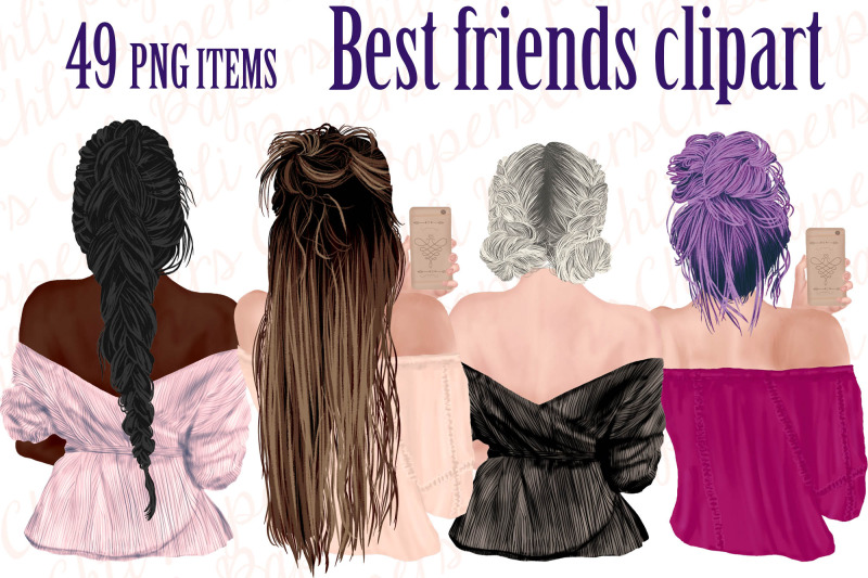 best-friends-clipart-girls-with-phones-fashion-girls