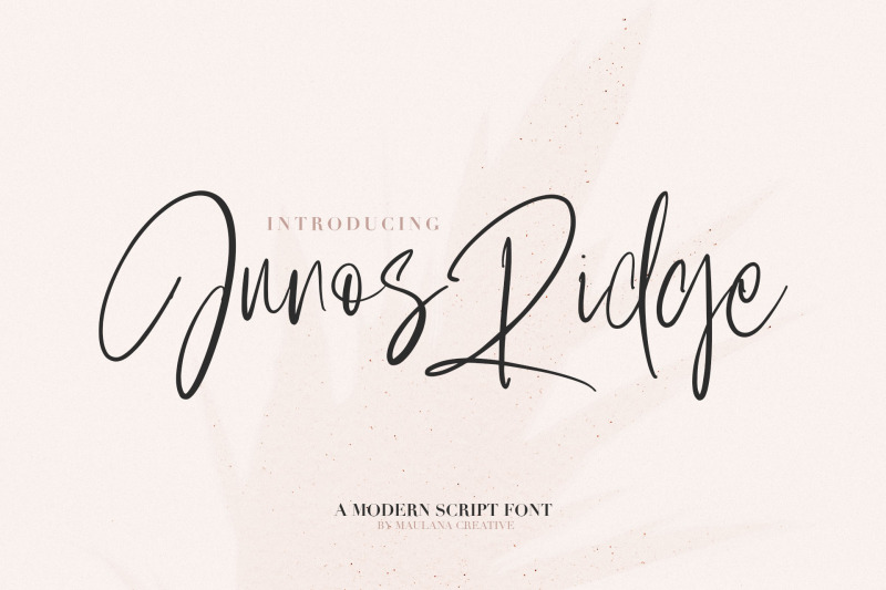 junos-ridge-handwritten-brush-font