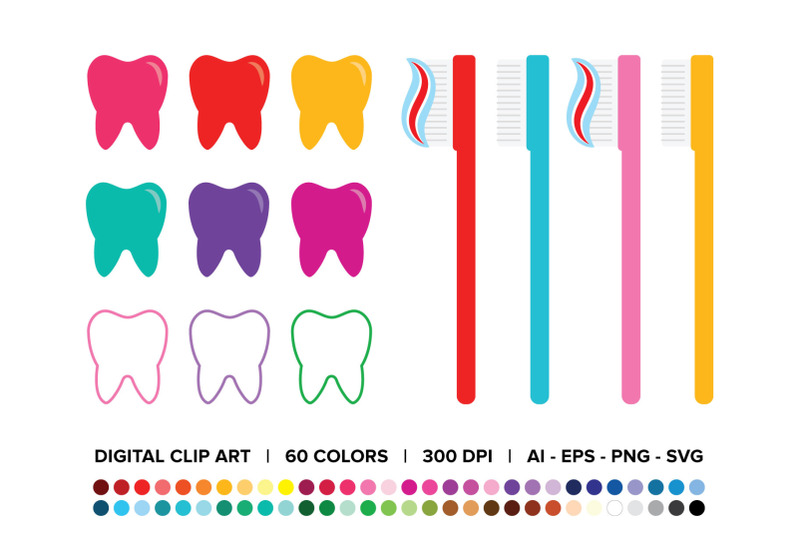 tooth-and-toothbrush-clip-art