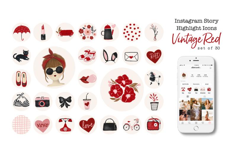vintage-girl-instagram-highlight-icons