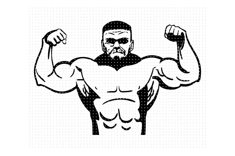 big-guy-strong-man-svg-dxf-vector-eps-clipart-cricut-download