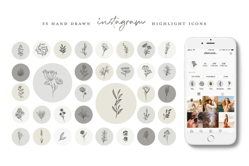 botanical-instagram-highlight-icons