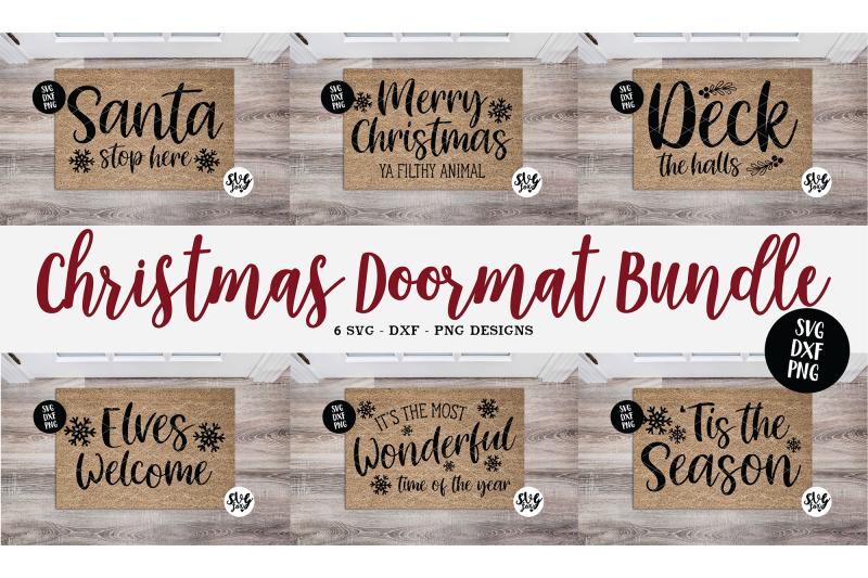 christmas-doormat-bundle-welcome-mat-svg-dxf-png-6-designs