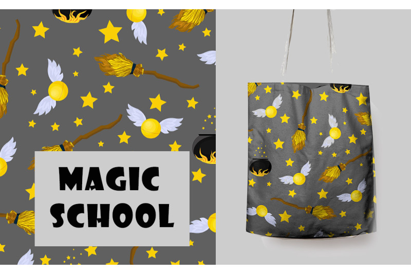 school-of-magic-pattern-set-theme-harry-potter-hogwarts