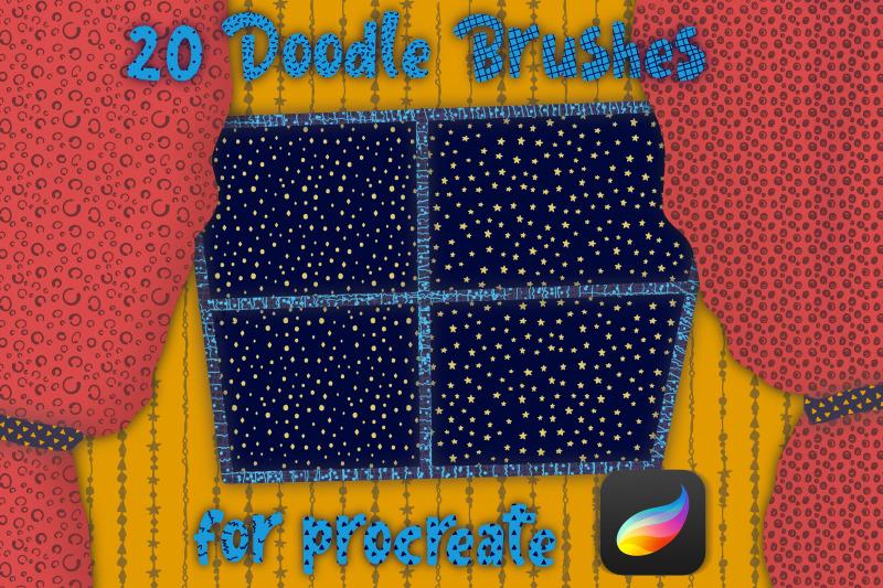 brushes-for-procreate-doodle-pattern-brushes