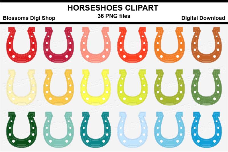 horseshoes-sticker-clipart-36-files-multi-colours