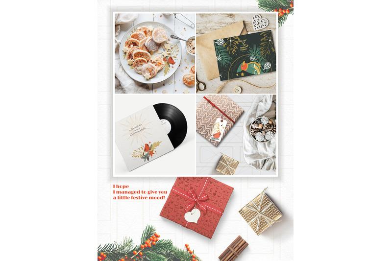 classic-christmas-winter-clipart-set