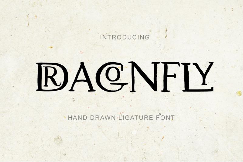 dragonfly-uppercase-ligature-font