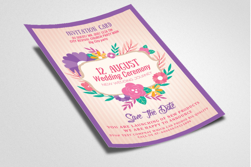 wedding-floral-invitation-flyer-template