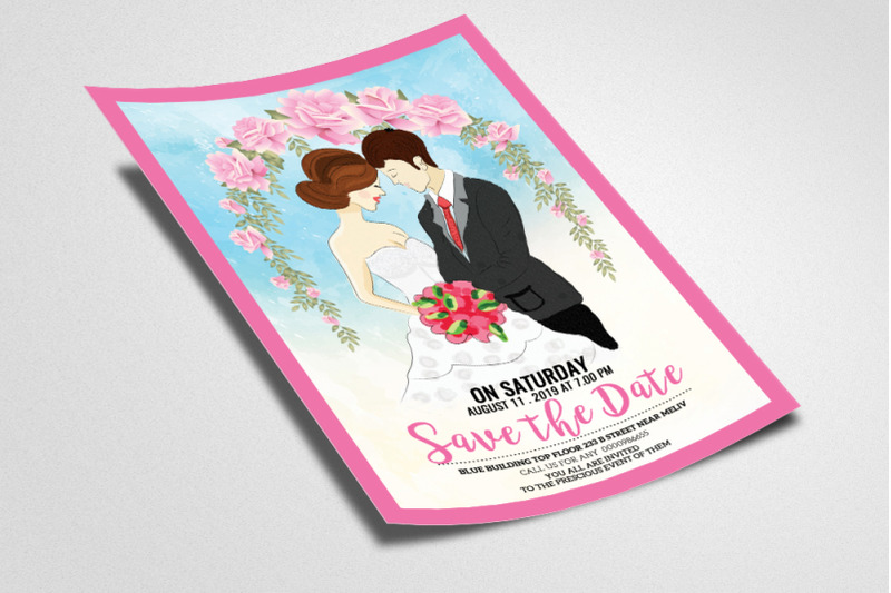 save-the-date-wedding-flyer-poster