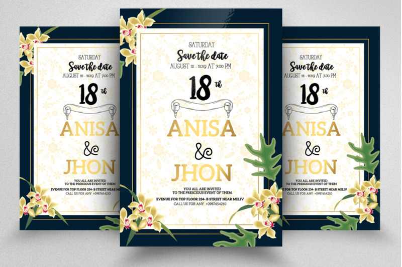 save-the-date-wedding-flyer-template