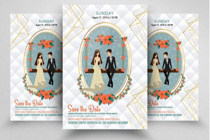 wedding-ceremony-invitation-flyer-poster
