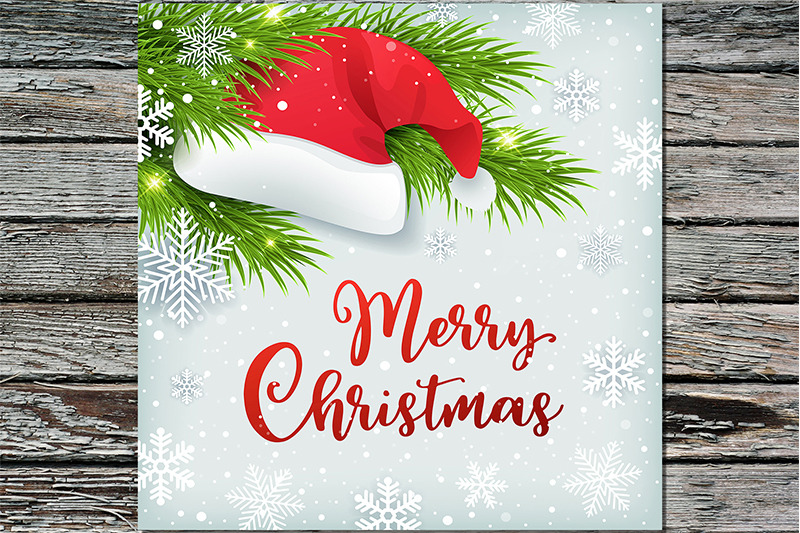 christmas-background-with-santa-hat