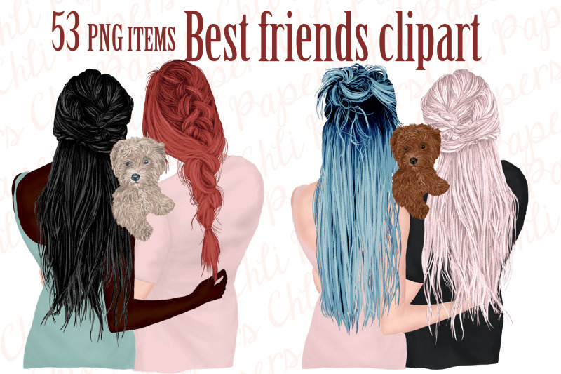 best-friends-clipart-girls-and-dogs-dog-clipart
