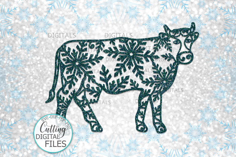christmas-cow-with-snowflakes-svg-paper-cut-laser-cut-file-template