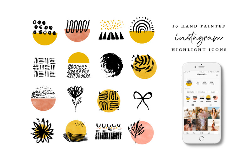 watercolor-instagram-highlight-icons