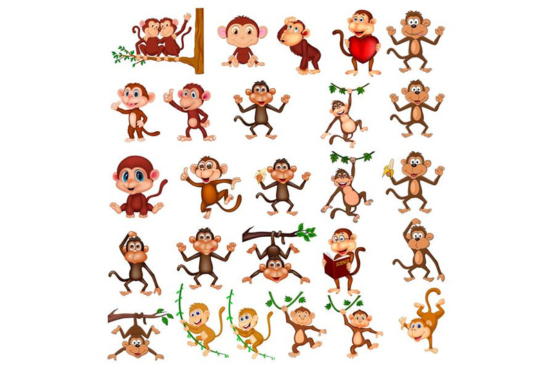 cartoon-monkey-collection