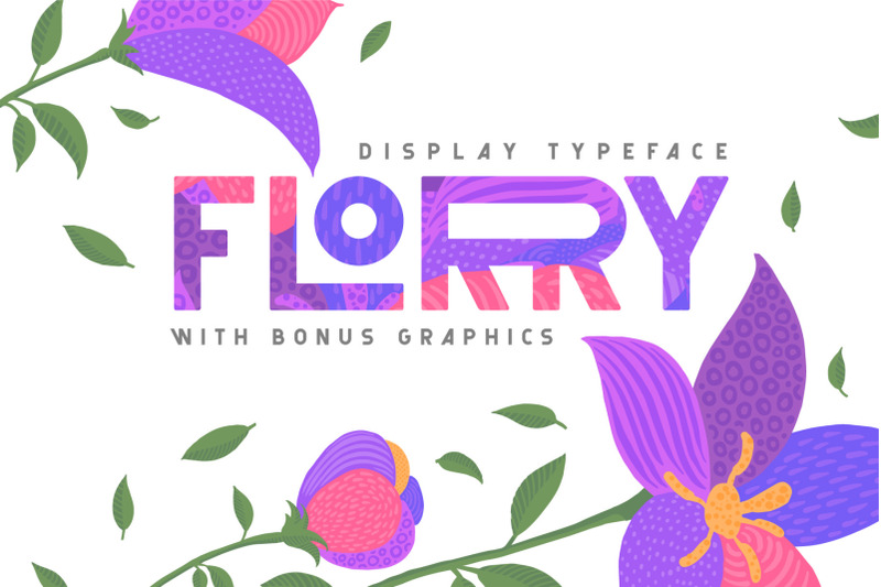 florry-font-amp-illustrations
