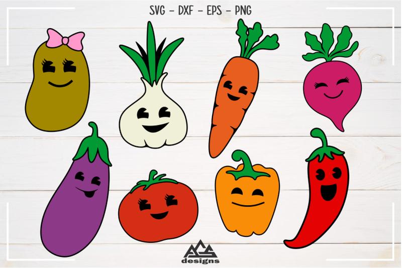 cute-vegetables-pack-svg-design