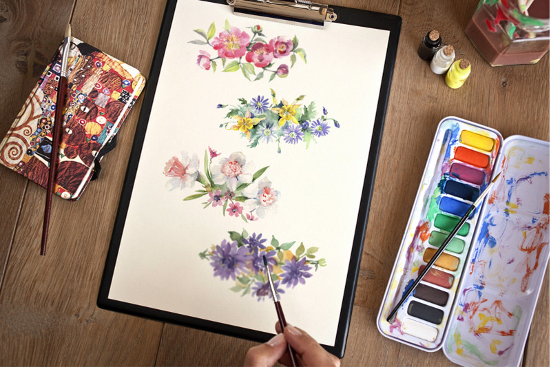 bright-bouquet-of-watercolor-flowers-png