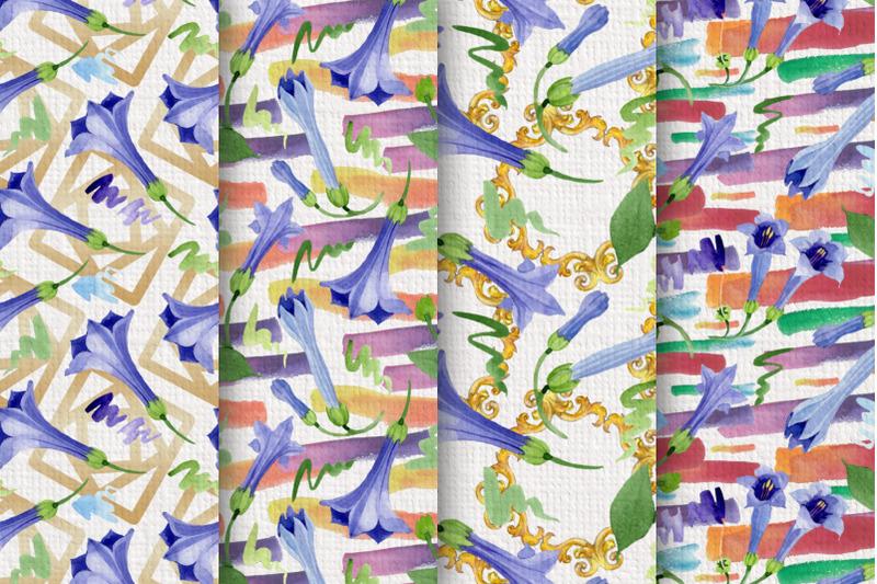 blue-brugmansia-flower-watercolor-png