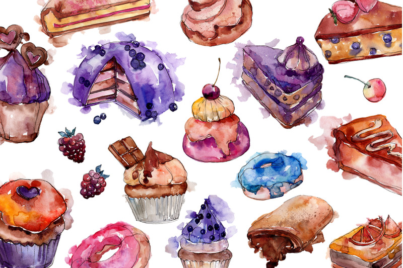 cake-sweet-happiness-watercolor-png