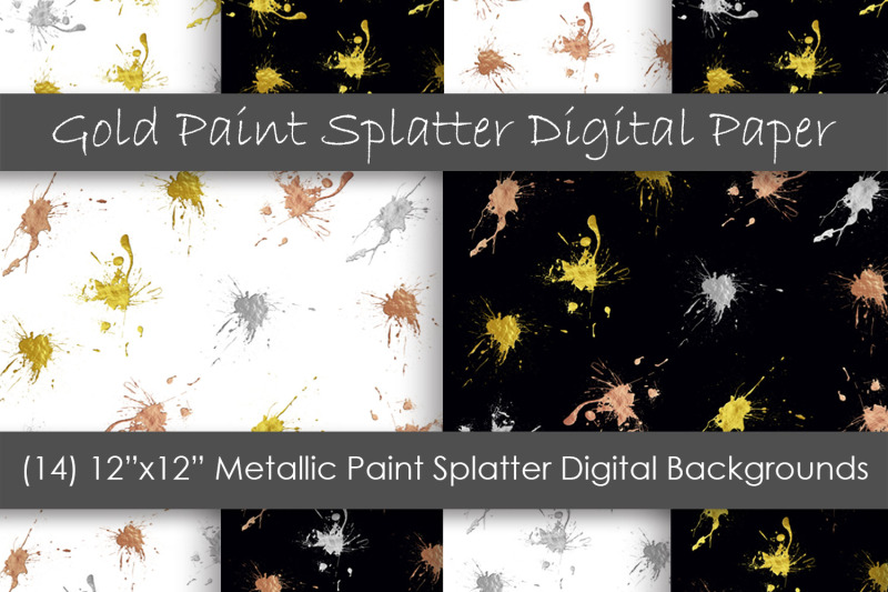 paint-splatter-digital-papers-metallic-paint-backgrounds
