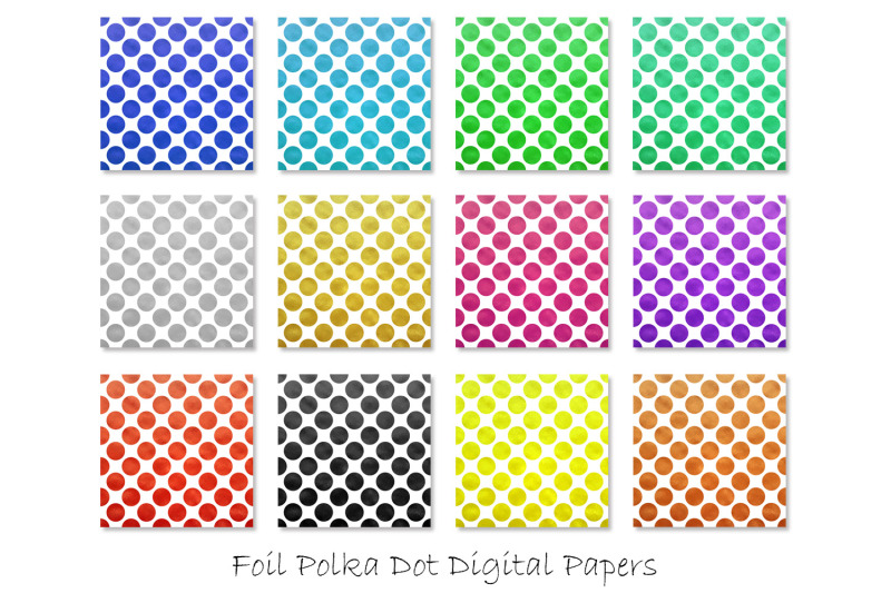 foil-polka-dot-digital-papers-polka-dot-backgrounds