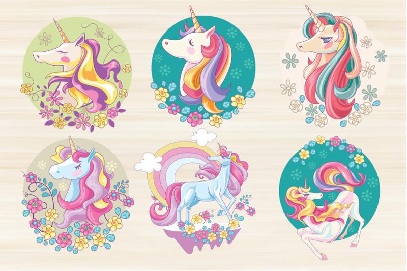 cute-unicorn-set