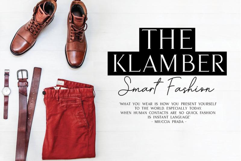 klamber-satisfaction-font-duo