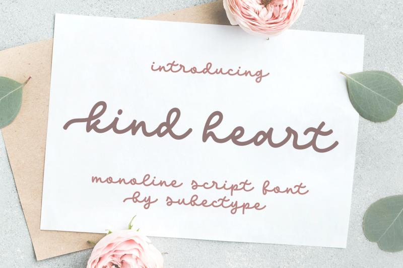 kind-heart-monoline-font
