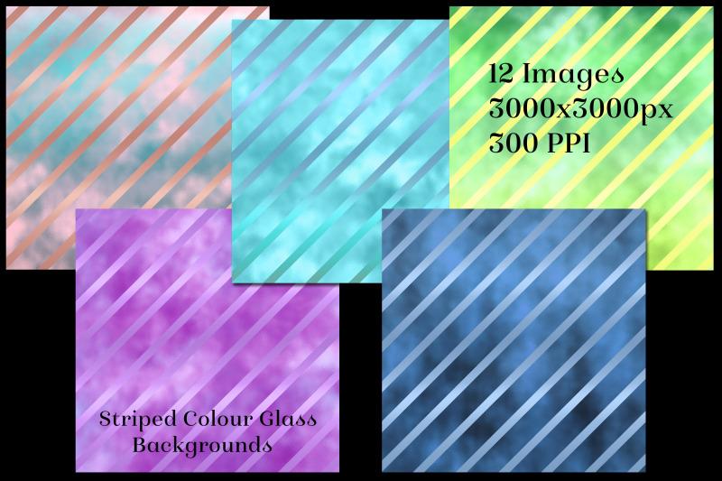 striped-colour-glass-backgrounds-12-image-textures-set