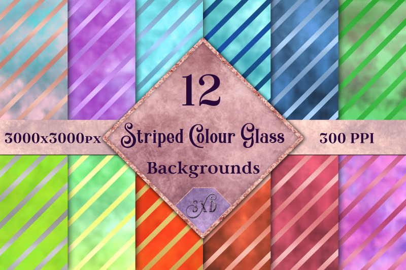 striped-colour-glass-backgrounds-12-image-textures-set