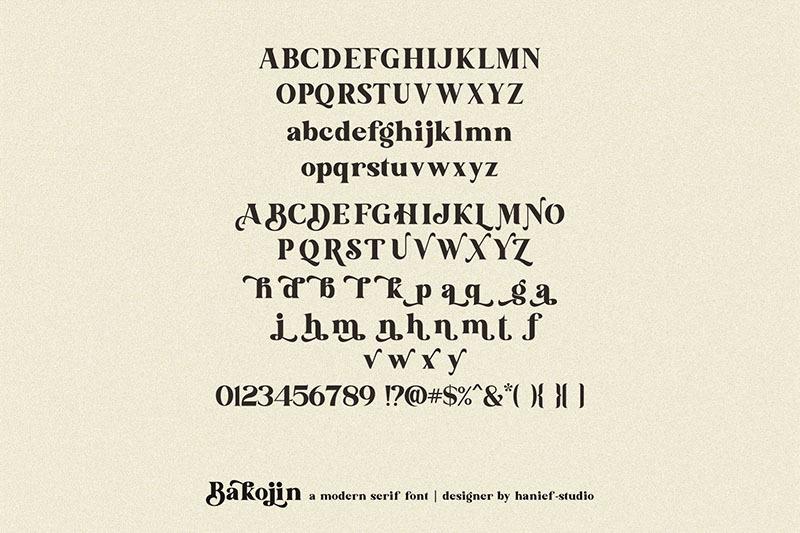 bakojin-modern-serif-font