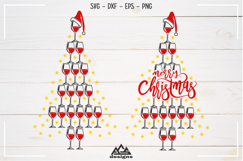 wine-glass-christmas-tree-svg-design