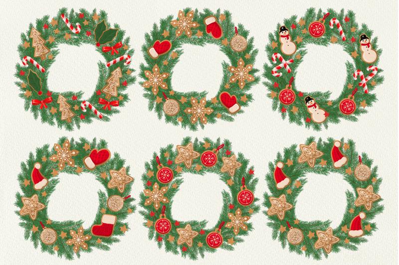 christmas-digital-illustration-set