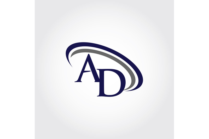 monogram-ad-logo-design